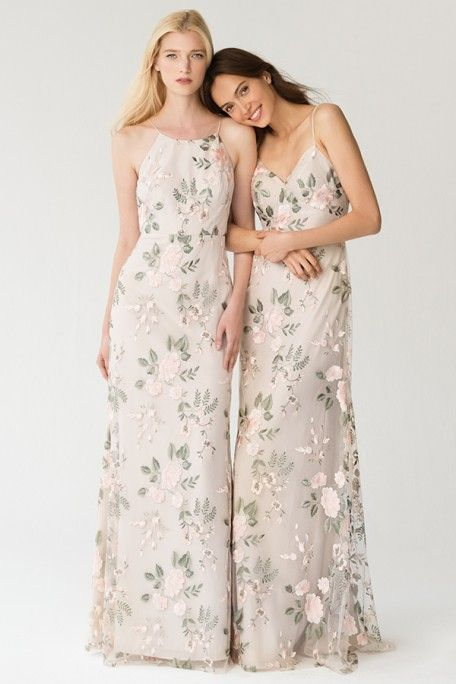 6008a279de Berry Vintage Iris Floral Bridesmaid Dresses