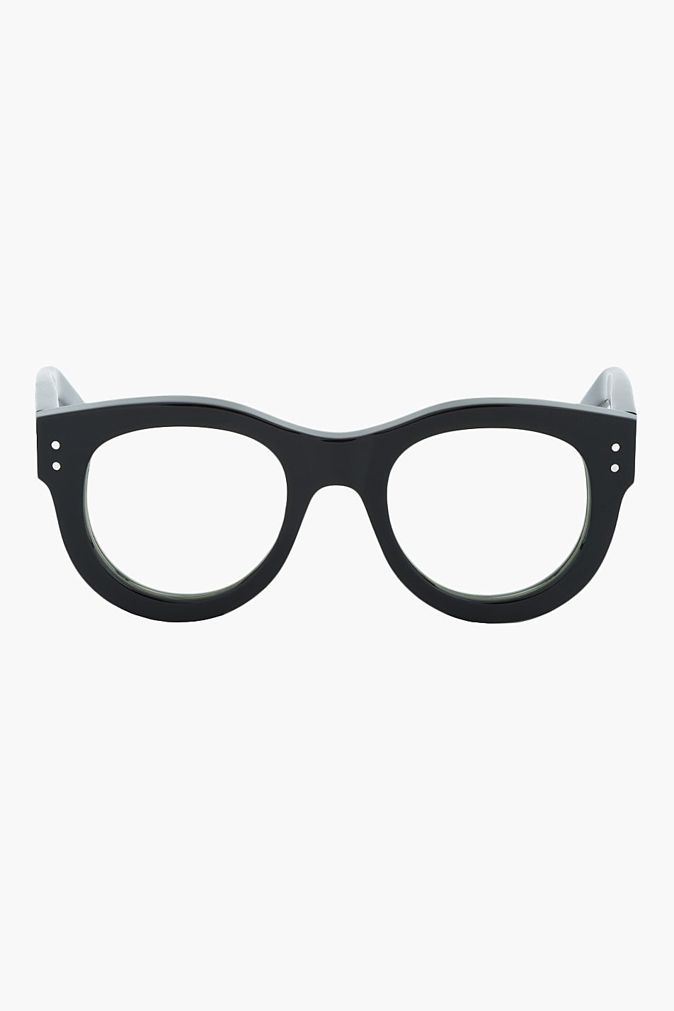 9f9d67ae3f4 SASQUATCHFABRIX Black Polished Thick-Frame Optical Glasses