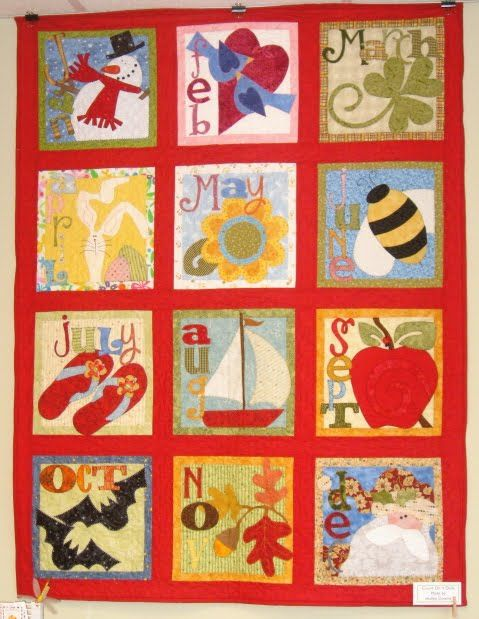 Calendar Quilt From Nancy Halvorsen S Book Count On It