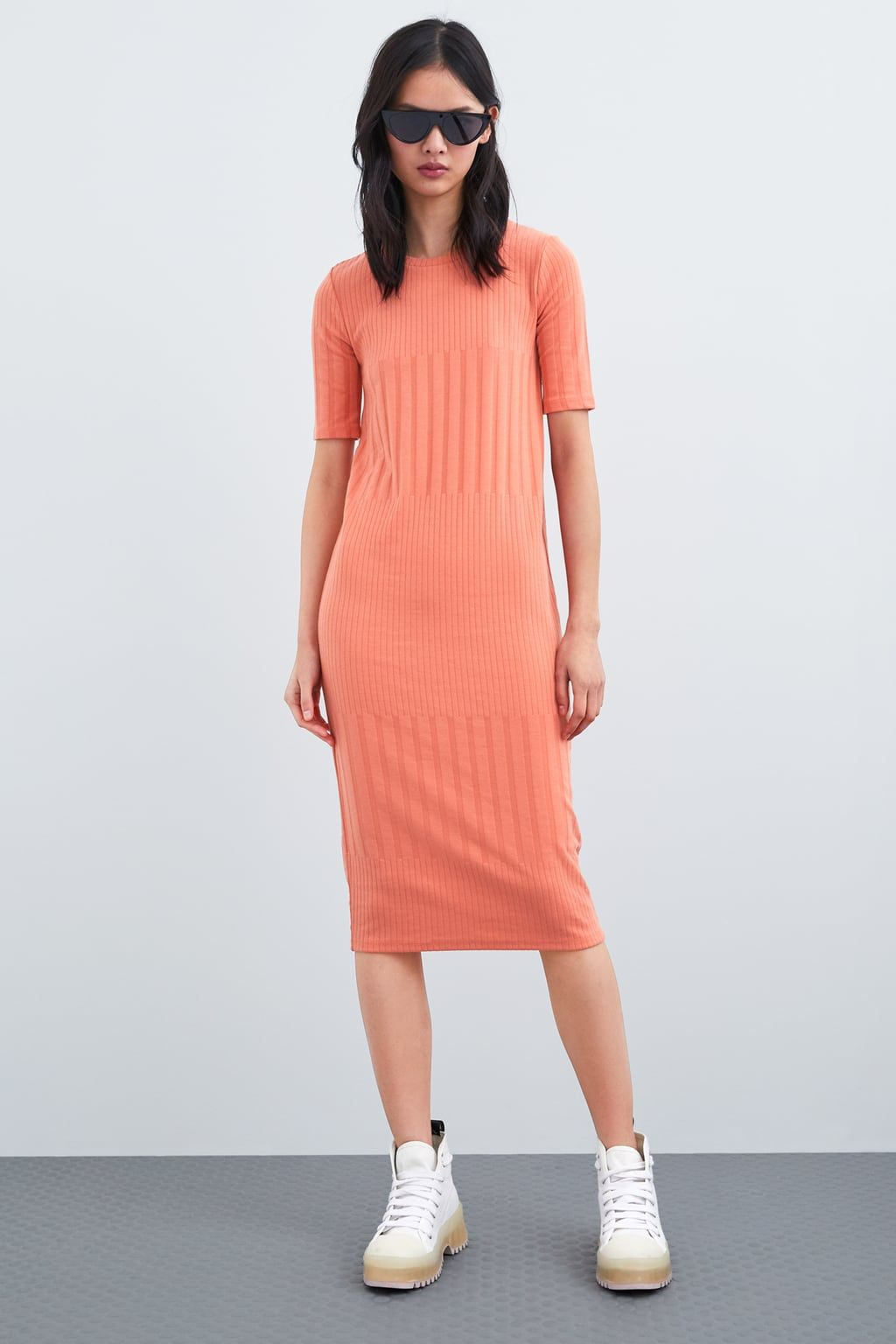 1e46dceda4a TEXTURED DRESS - View all-DRESSES-WOMAN
