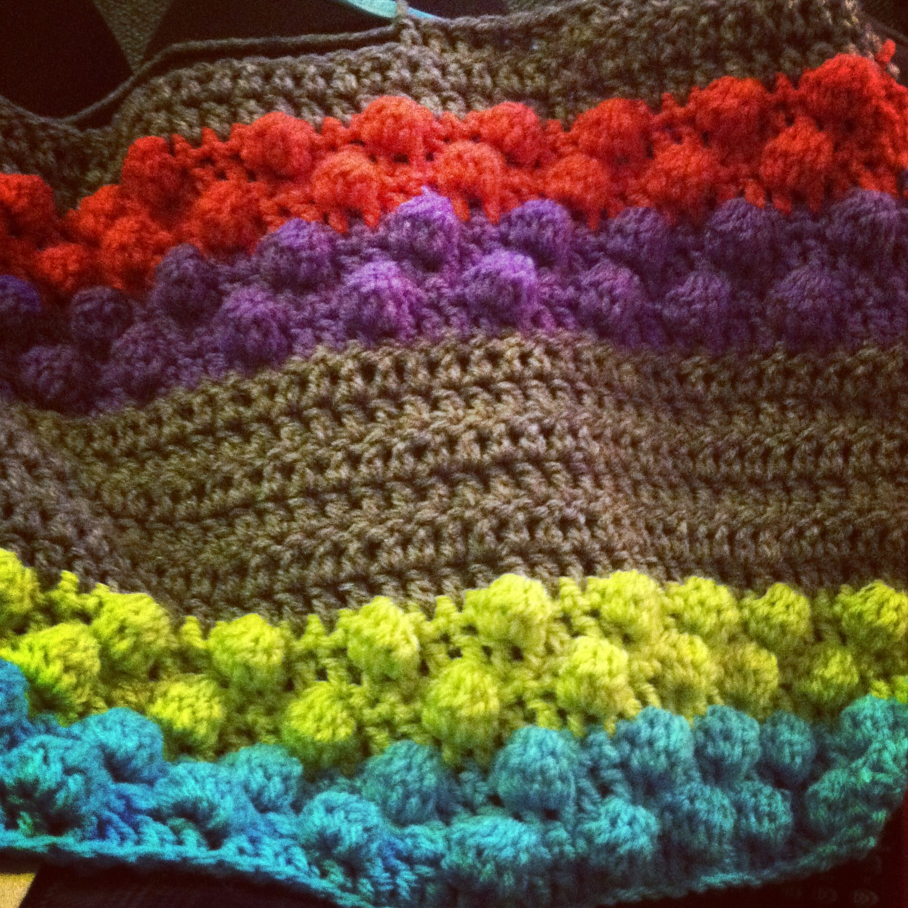 Knitted Popcorn Stitch Afghan : Crochet blanket using popcorn stich (dctog5) crochet Pinterest Blankets...