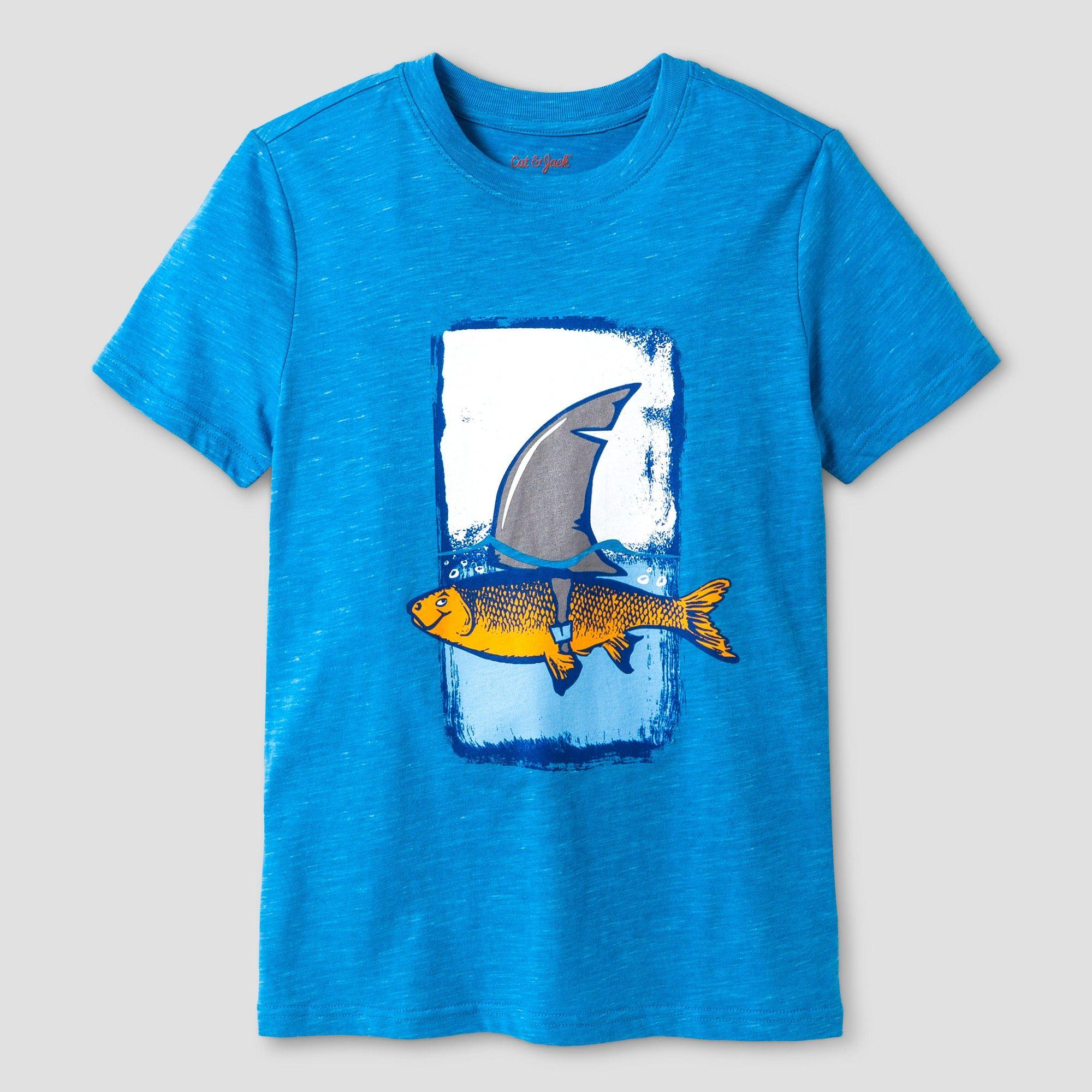 Boys' Fish Shark Graphic Short Sleeve TShirt Cat & Jack