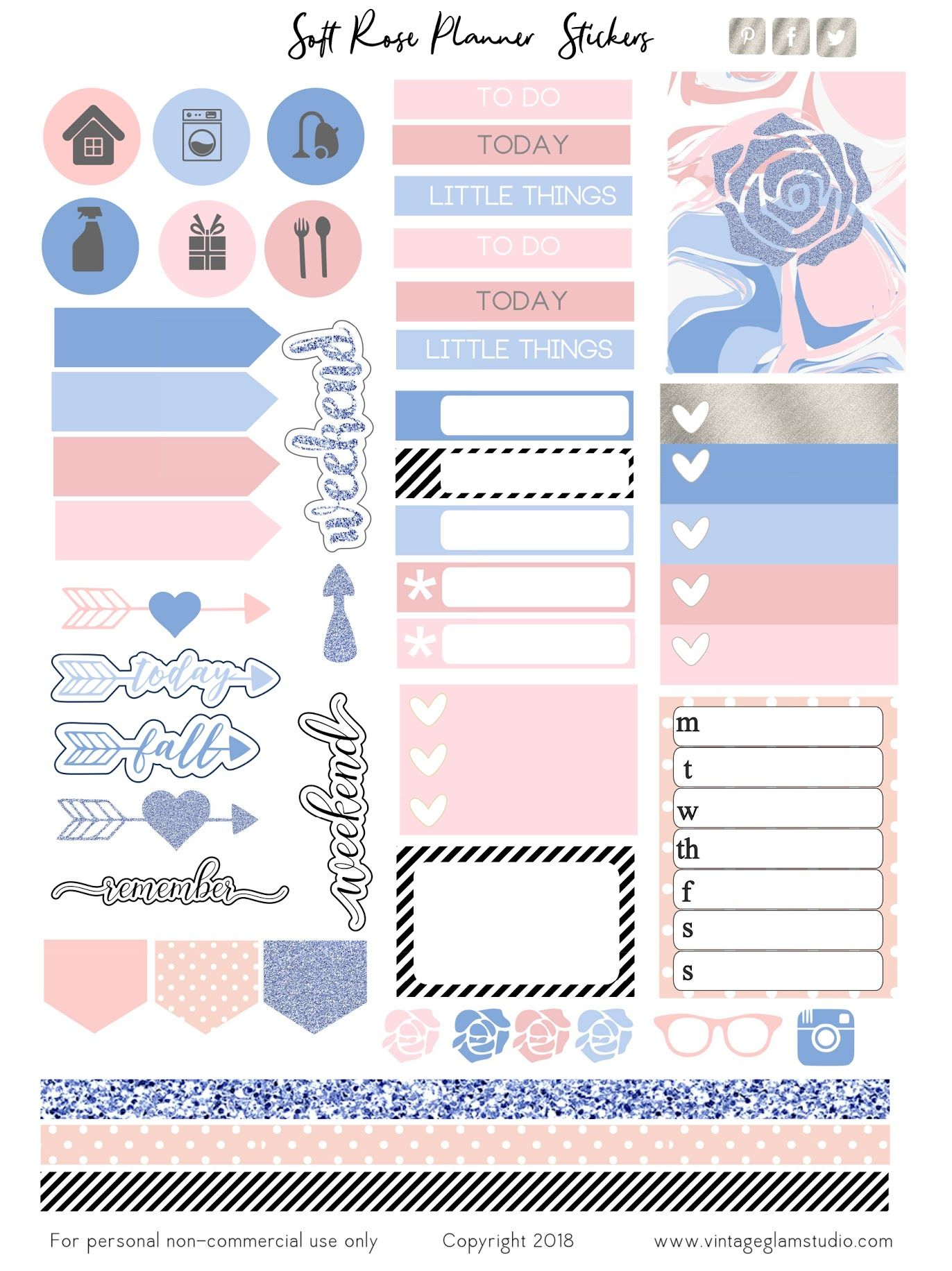 Cri 6x8 Soft Rose Jpg Google Drive In 2020 Printable Planner Stickers Free Printable Planner Stickers Planner Printables Free