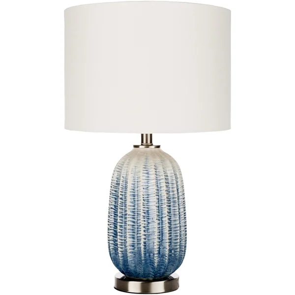 Chiarina Navy White Ceramic Table Lamp In 2020 Blue And White Lamp Ceramic Table Lamps Cool Floor Lamps