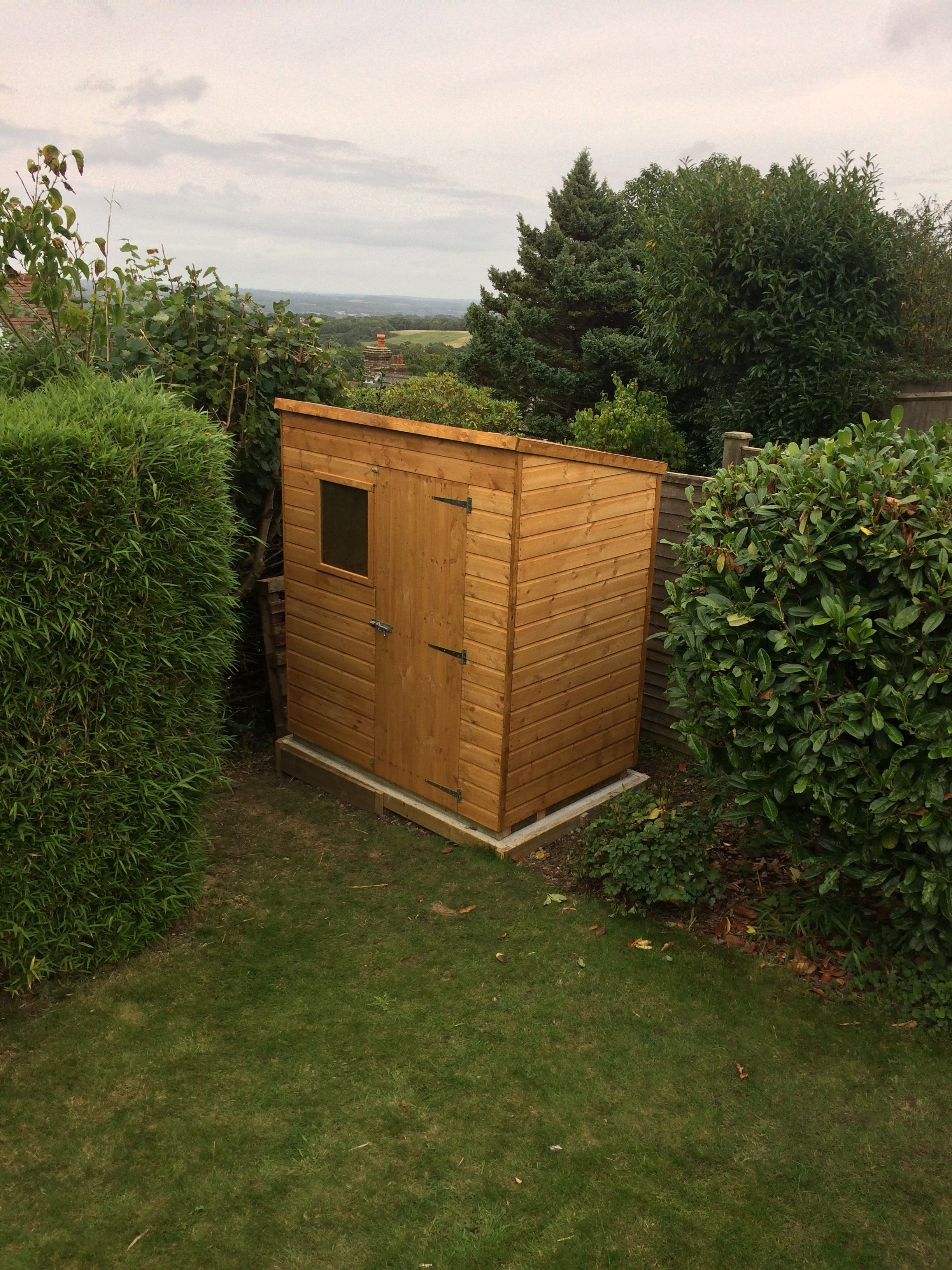 6 x 4 Waltons Tongue and Groove Pent Wooden Shed | Gardens