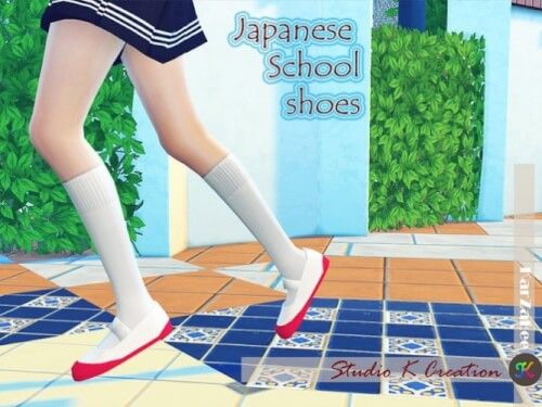 Japanese School Shoes by Studio K-Creation for The Sims 4