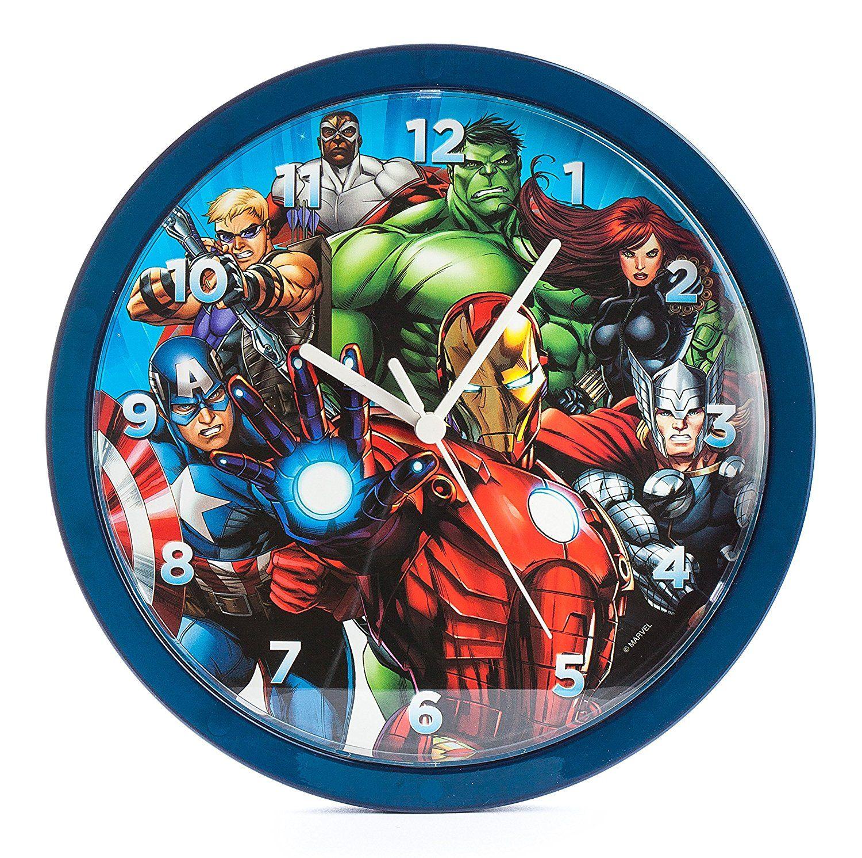 Marvel Comic Helden Wanduhr für das Kinderzimmer | Avengers Hulk ...