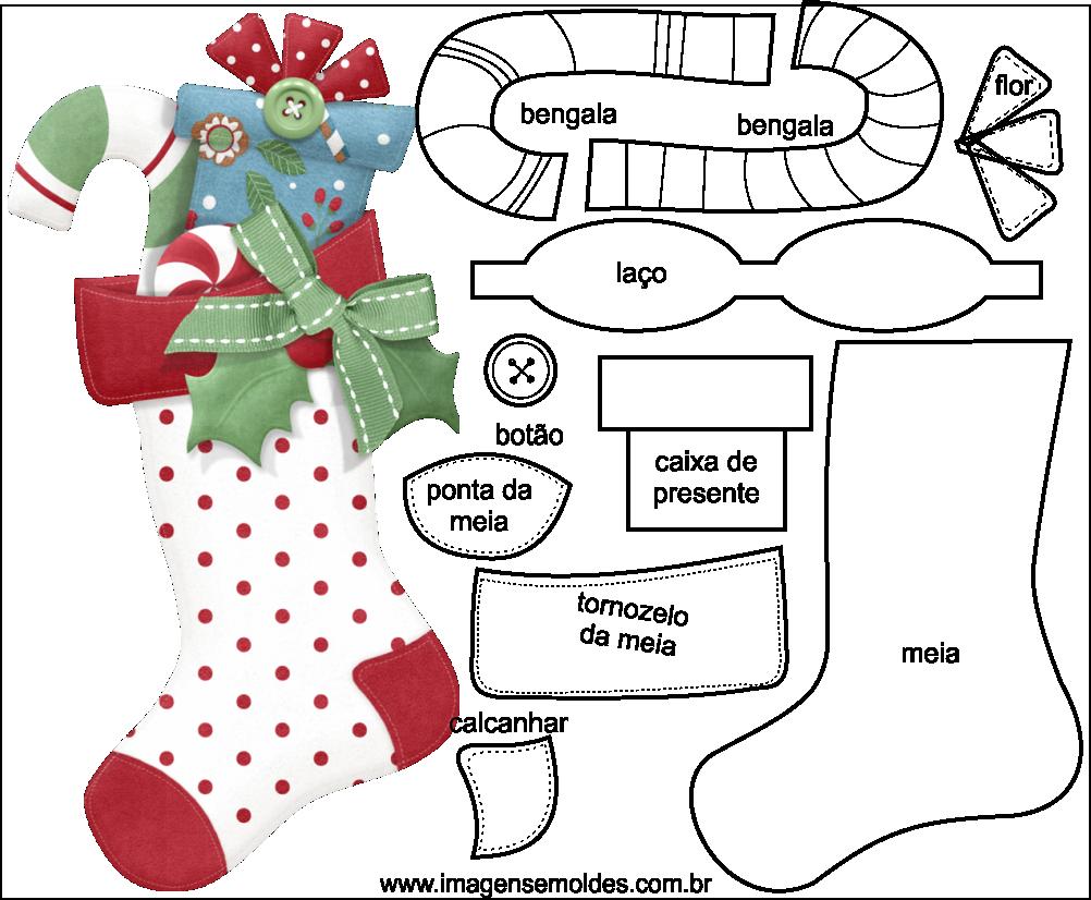 Artesanato Pernambuco Onde Comprar ~ Molde de Natal para Feltro EVA e Artesanato 48, Molde de Natal para Feltro EVA e Artesanato