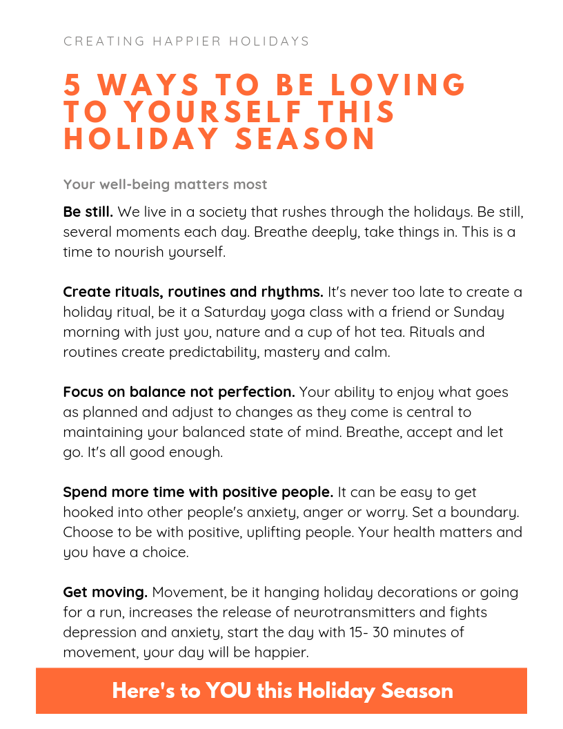 Plan To Take Care Of You This Holiday Season Mental Health