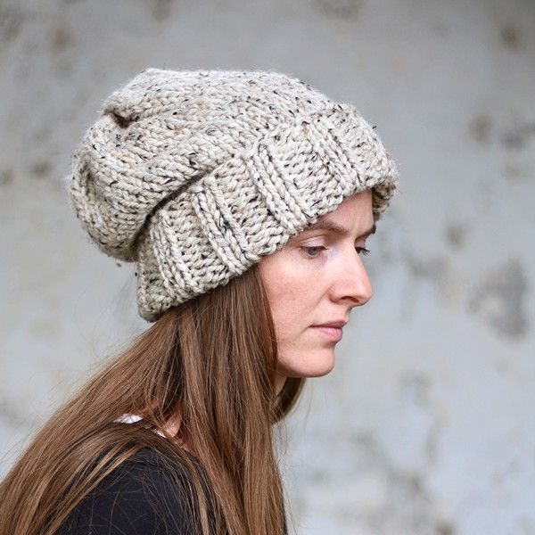 Brome Fields Slouchy Hat Knitting Pattern - Beginner Skill ...