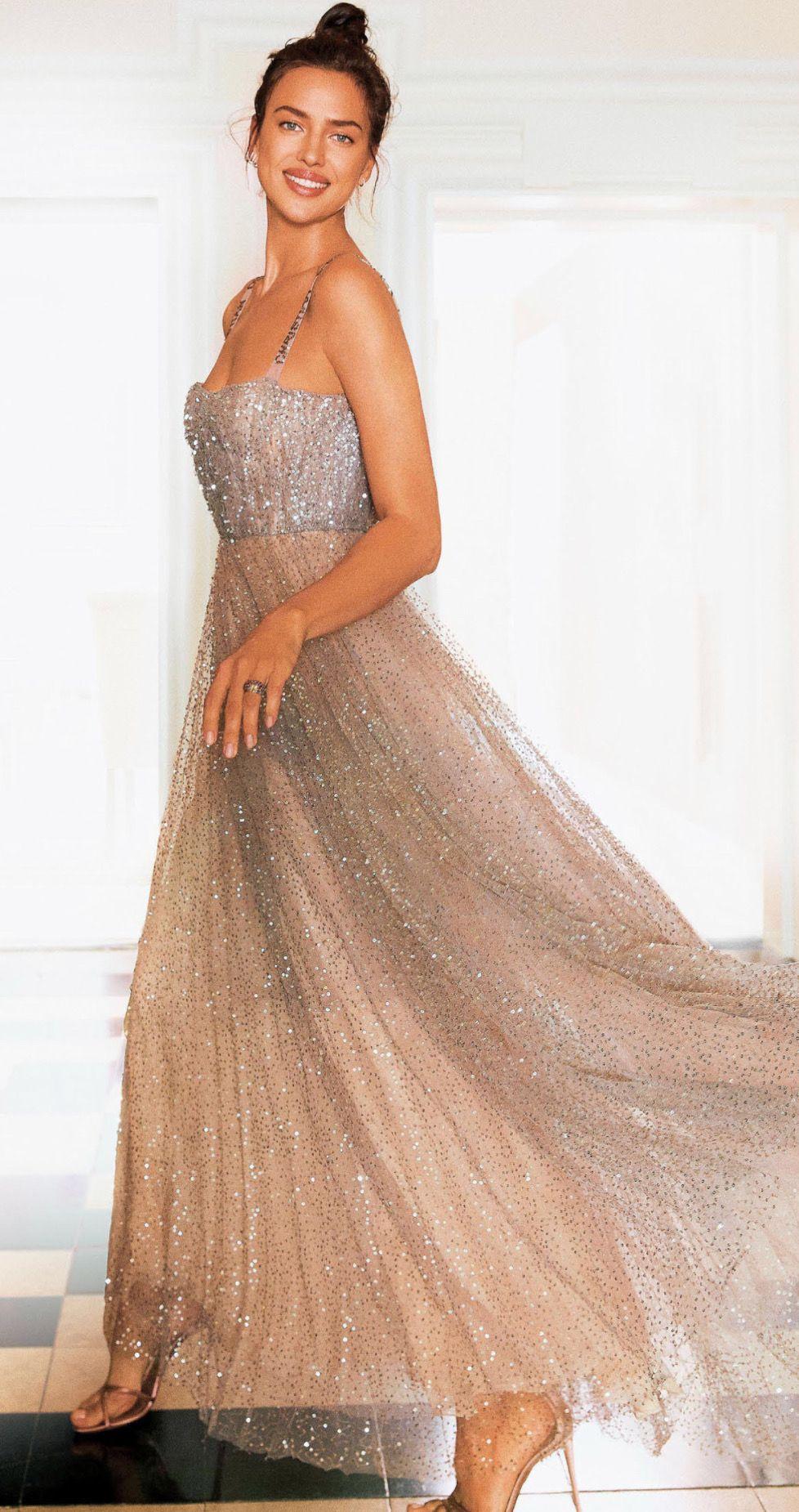 eceb4520b58 Irina Shayk wearing a Dior gown