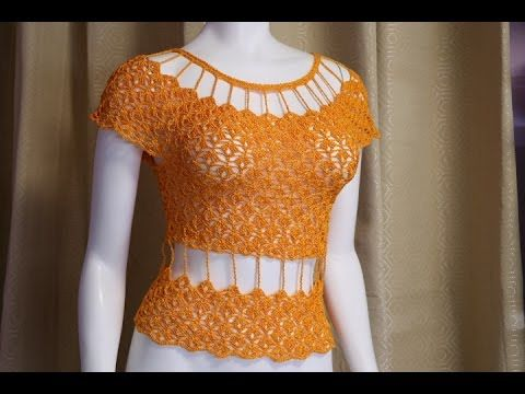 8a180883e Как связать блузку крючком.Crochet blouse summer include subtitles ...