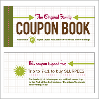 The Strange Ideas Found In Voucher >> Family Coupon Book What A Great Idea For A Stocking Stuffer Or