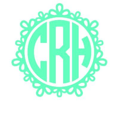 One Color Vinyl Decorative Circle Monogram Custom Initials Car - Circle monogram car decal