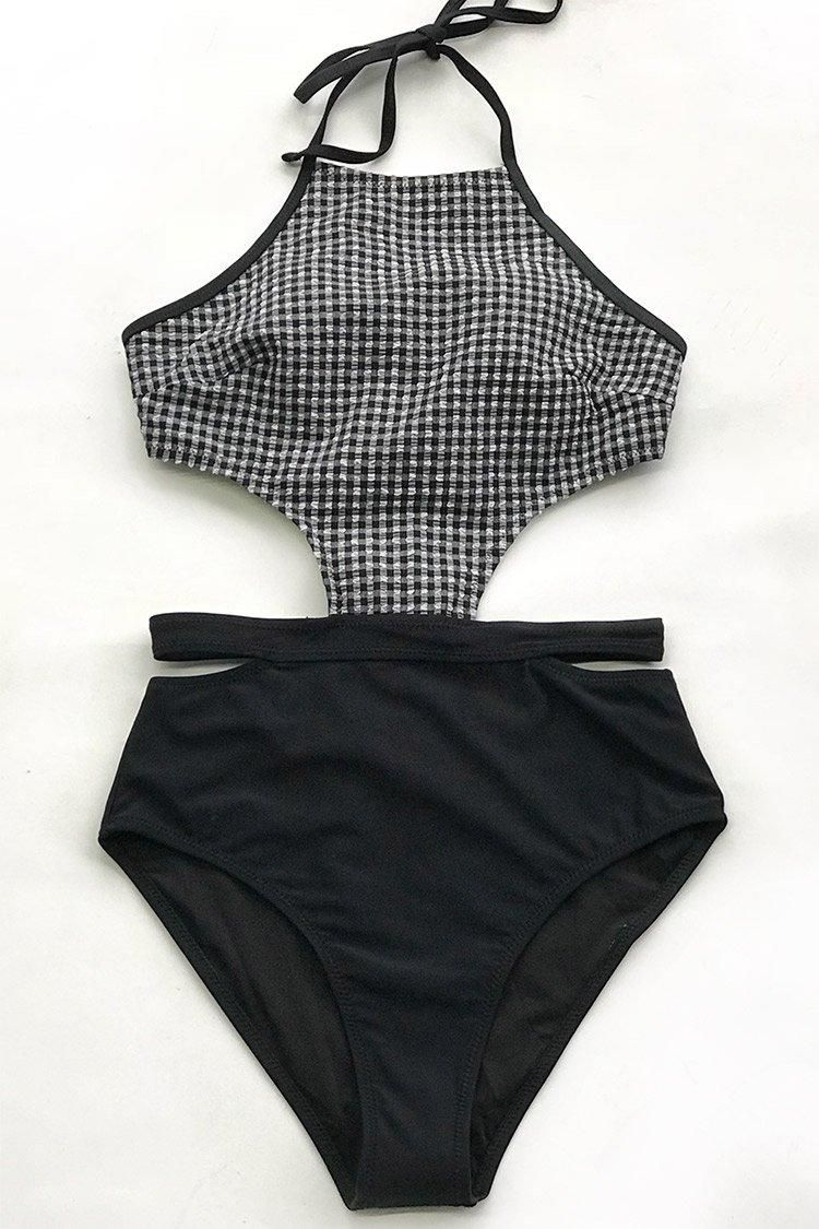 01e0934fccf  EnvyWe  CupShe -  CUPSHE Black and White Gingham One-Piece Swimsuit -  EnvyWe.com