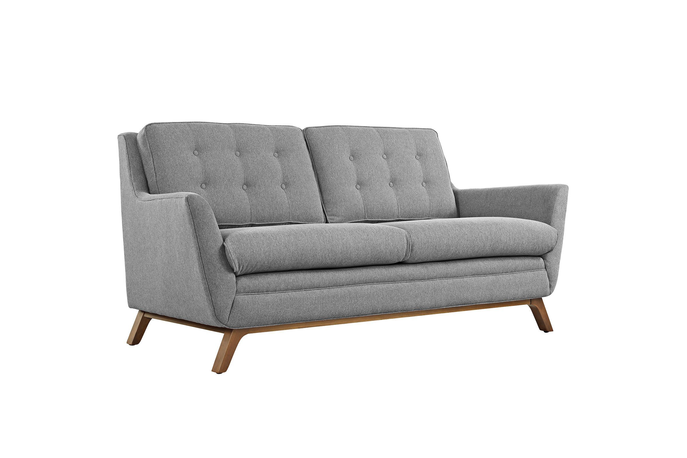 Beguile Upholstered Fabric Loveseat In Expectation Grey By Modway