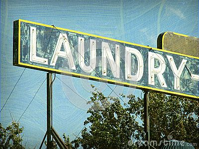 Old Laundry Signs Entrancing Old Vintage Laundry Signjdoms Via Dreamstime  Vintage Review