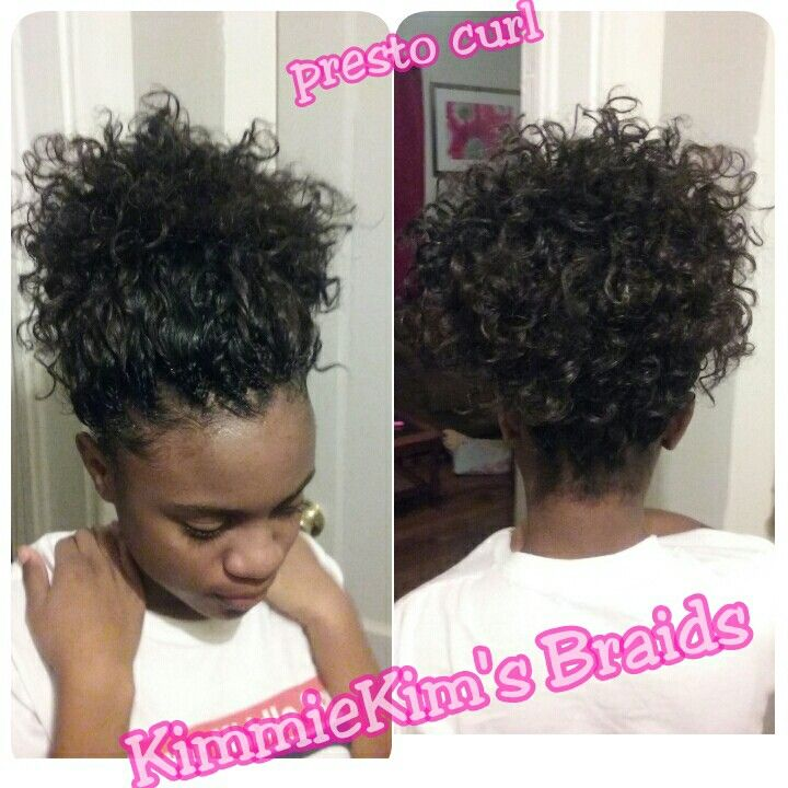 Crochet Freetress Presto Curl In A Simple Ponytail