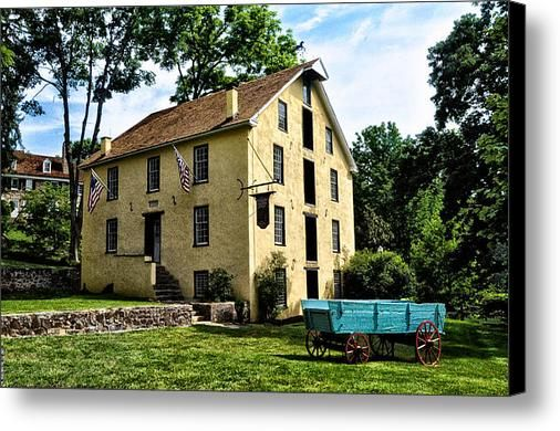 The Old Grist Mill  Paoli Pa. Canvas Print / Canvas Art By Bill Cannon