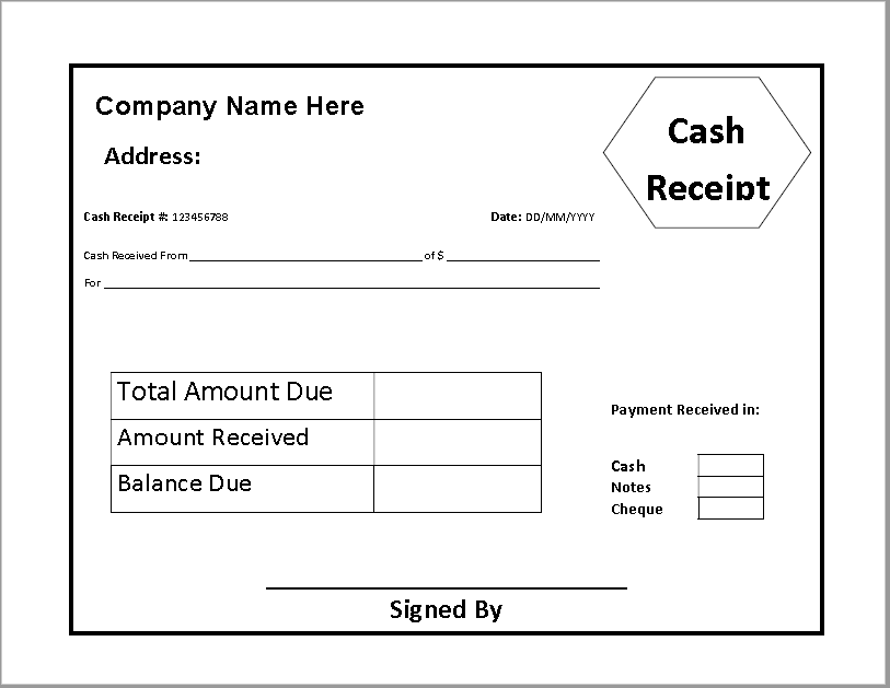 Pin By Over Seas On Free Cash Payment Receipt Templates Receipt Template Invoice Template Words