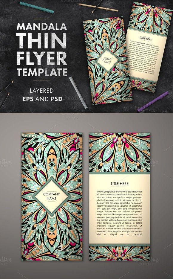 Mandala Flyer Template Pinterest Flyer Template Template And - Adobe illustrator flyer template