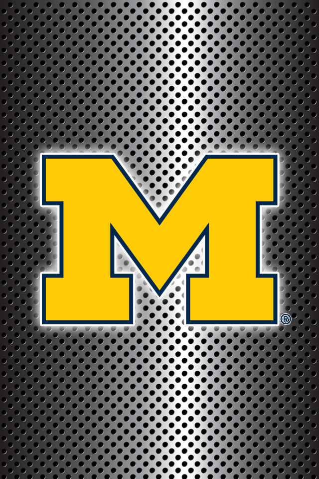 Get A Set Of 24 Officially Ncaa Licensed Michigan Wolverines Iphone Wallpapers Sized Precisely F Michigan Wolverines Football Michigan Football Michigan Sports