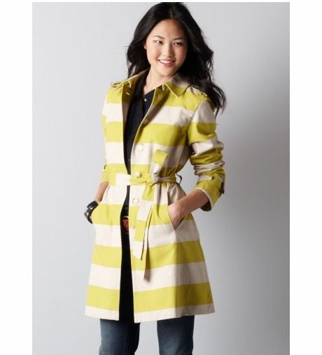 This Stripe Trench Coat From Loft Is Serious Competition