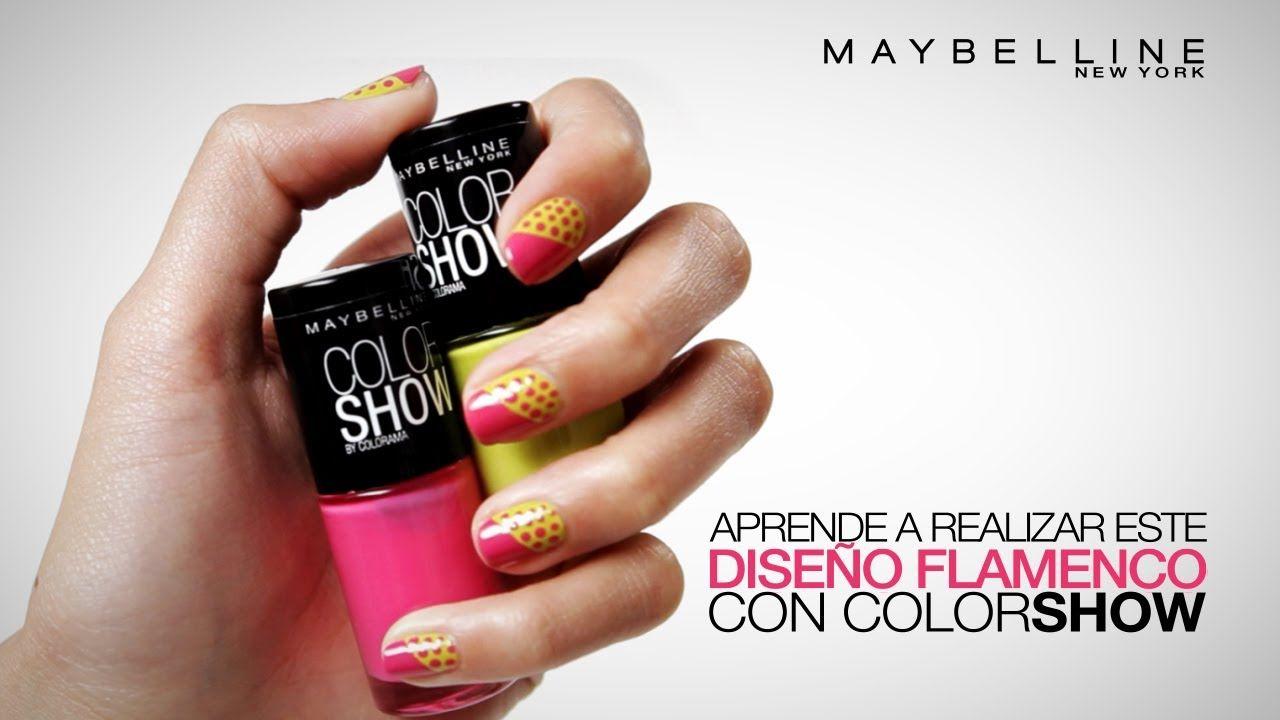 Decoraci n f cil para u as con colorshow de maybelline new york y dise o flamenco - Decoracion facil de unas ...