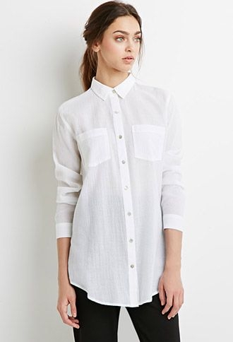 Blouses Shirts Women Forever 21 I Would Tuck In The Front With