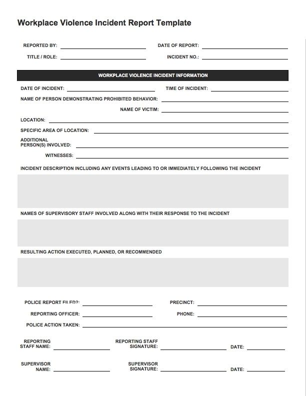 Incident Report Sample template Pinterest Template - free incident report template