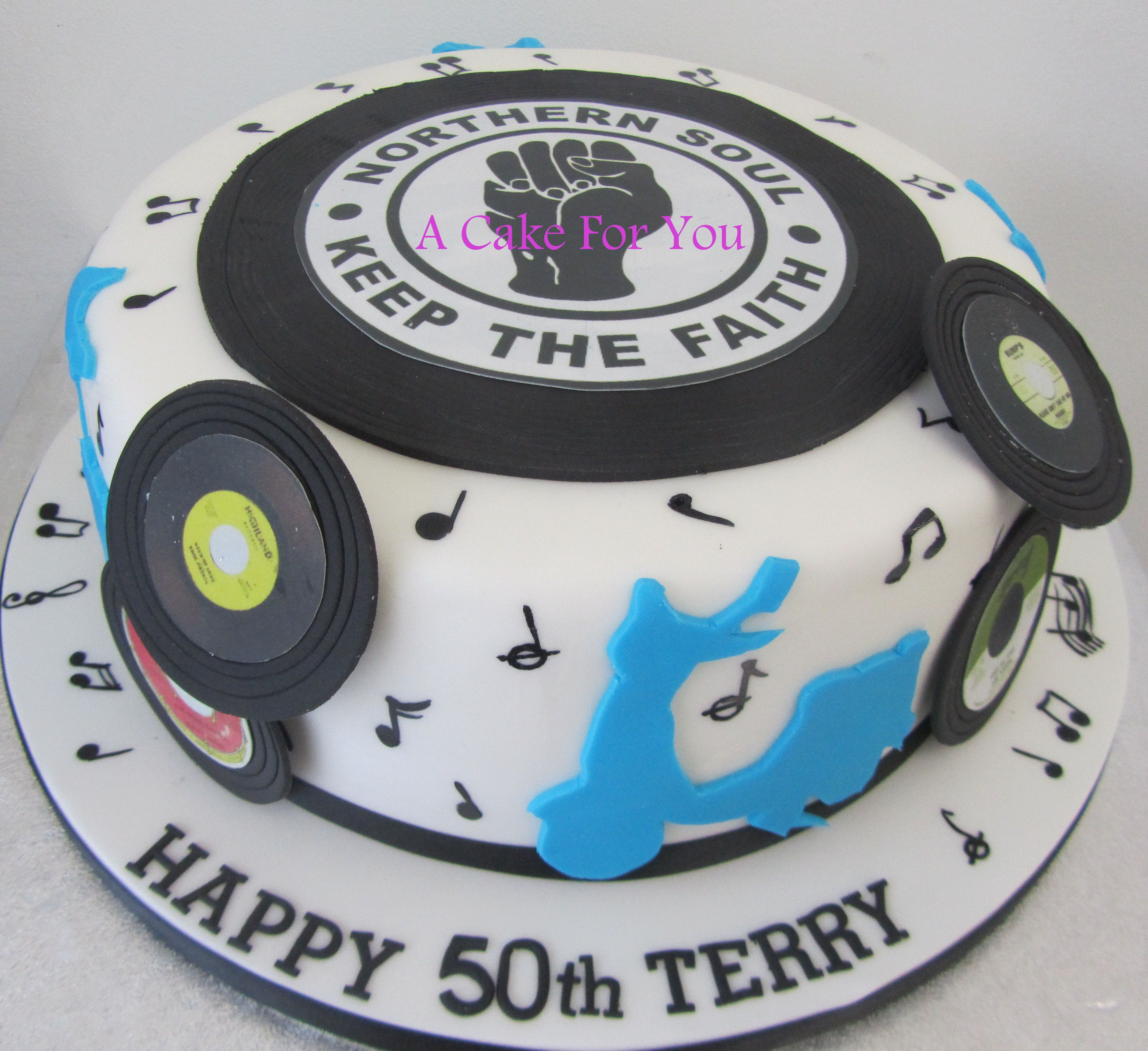 Northern Soul Cake For Terry's 50th Birthday