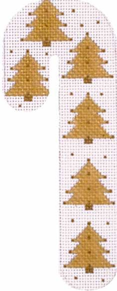 Melissa Shirley Designs | Hand Painted Needlepoint | Tree Candy Cane