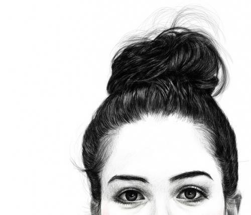 how to draw anime hair bun
