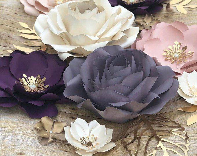 Paper Flowers Backdrop set of 30 items #largepaperflowers