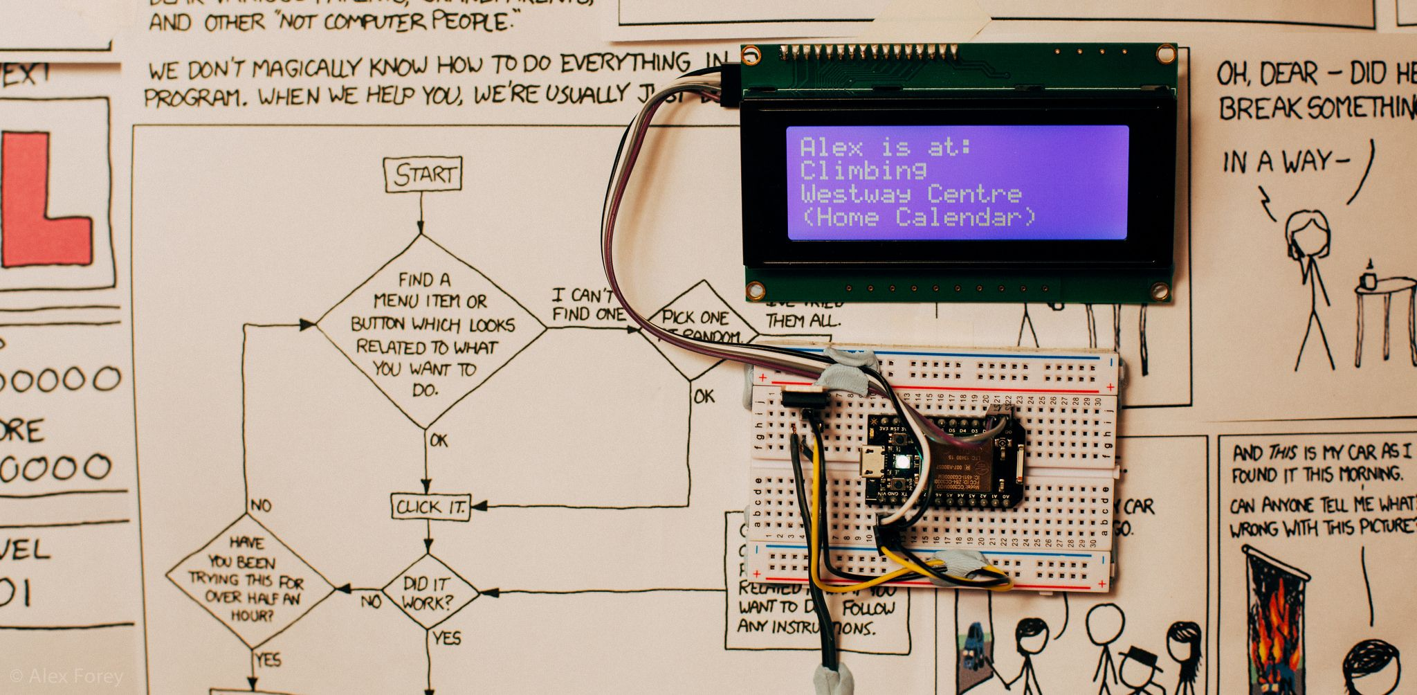 From Zero To A Pro Arduino Cd Update Daftar Harga Terbaru Indonesia Circuithelp Micro Create An Lcd Display For Your Google Calendar Projects Electronics
