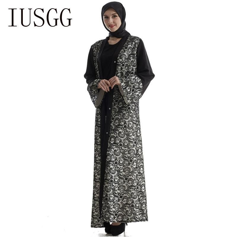 c80511b7ce3 Muslim Women Long Sleeve Tunic Dress Maxi Abaya Islamic Women Vintage Dress  Clothing Robe Kaftan Caftan Moroccan Lace Up | Al Mishari shaa