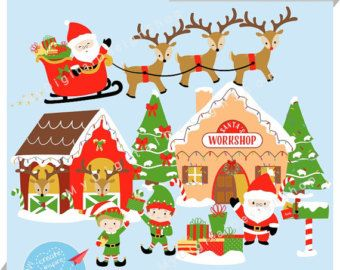 Christmas In July Clipart Free Download.Free Santa Workshop Cliparts Download Free Clip Art Free