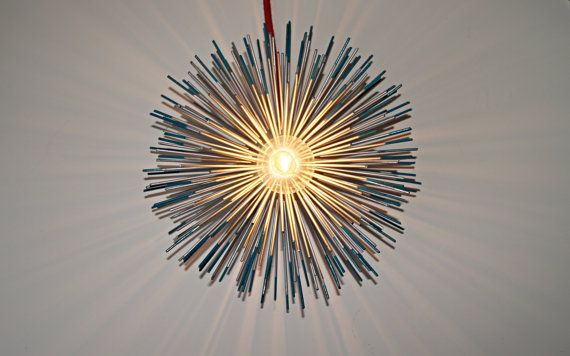 Metal Urchin Table Lamp Lighting With Colored Tips By Stimulight 99 00 With Images Custom Purses Table Lamp Lighting Trending Accessories