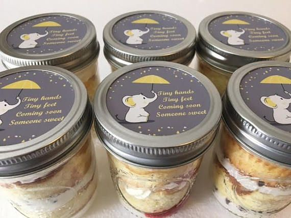 6 8oz Cupcakes In A Jar Mason Jars Elephant Theme Baby Baby Stuff