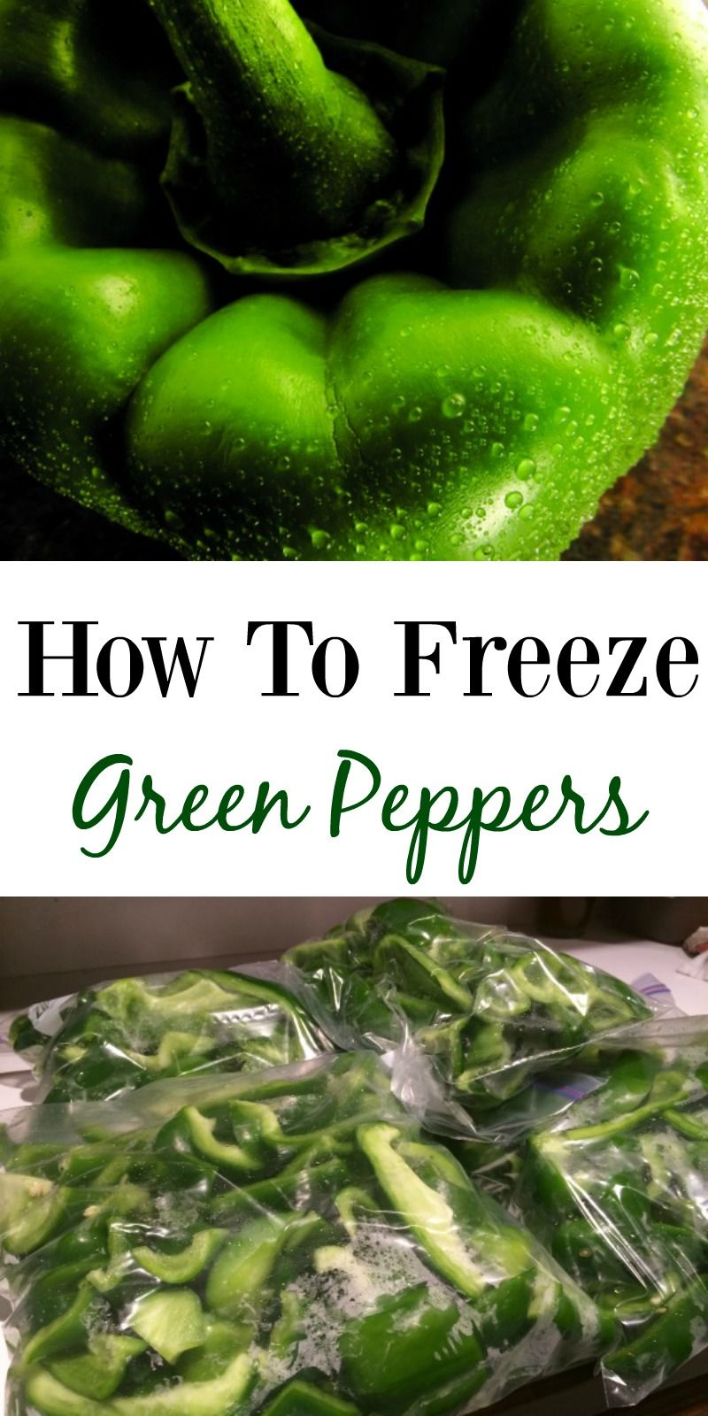 How to Freeze Green Peppers--great way to stock up and save when peppers are in season!