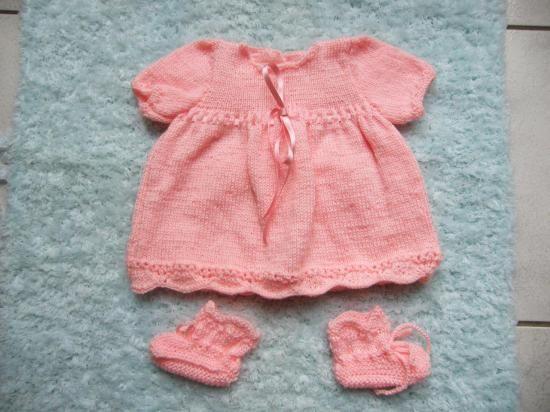 Extrem modèle tricot robe layette gratuit | mamina | Pinterest | Modèle  FQ36