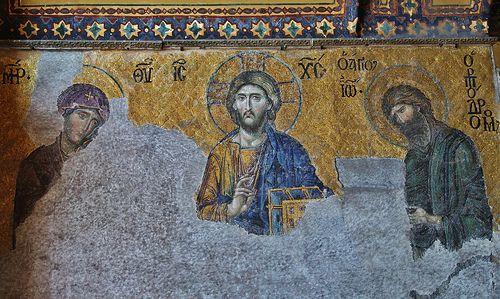 Istanbul Hagia Sophia Deesis Mosaic Hagia Sophia Byzantine Art Hagia Sophia Istanbul