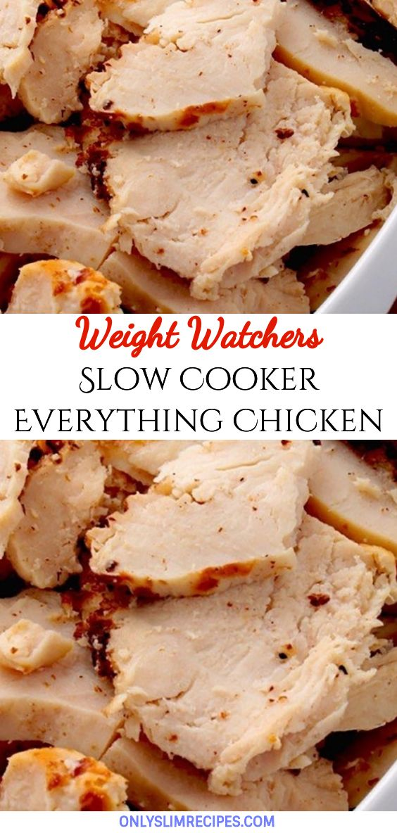 Slow Cooker Everything Chicken  #crockpotrecipes