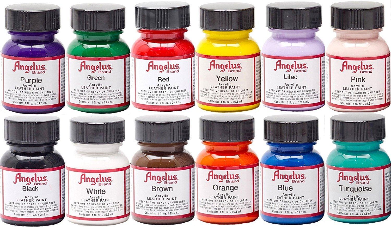 Acrylic Leather Paint Starter Kit Painting Leather Leather Paint Leather Diy Crafts