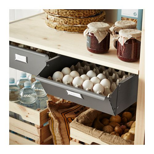Ikea Launches Kitchen Made Out Of Recycled Plastic Pet: IVAR 1 Section/shelves/drawers Pine/grey 89x50x179 Cm