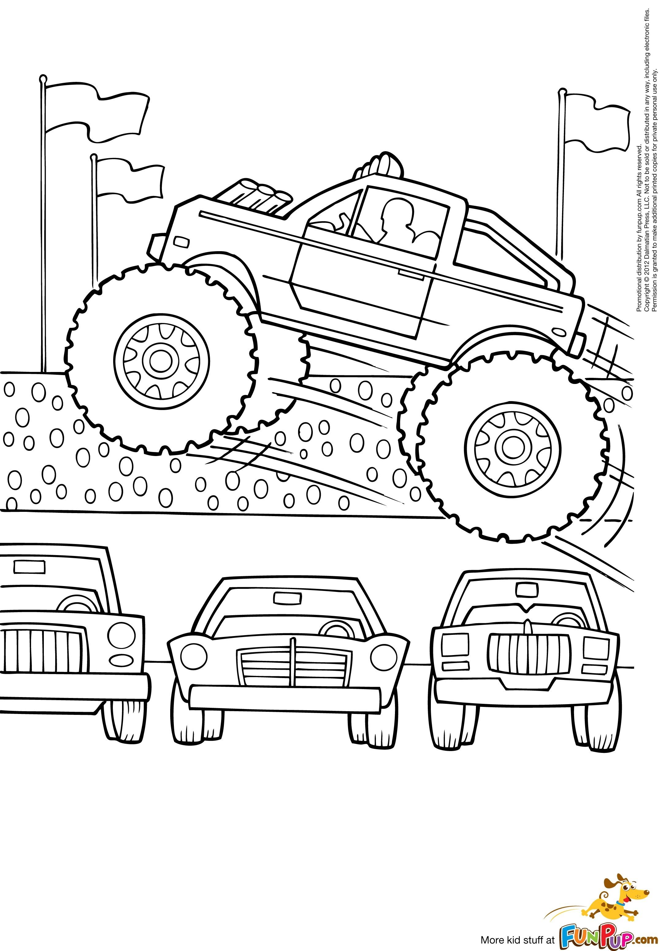 Coloring Pages Of Cars And Trucks Unique Grave Digger Monster