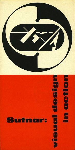 Sutnar Visual Design in Action Exhibition Brochure, The American - american institute of graphic arts