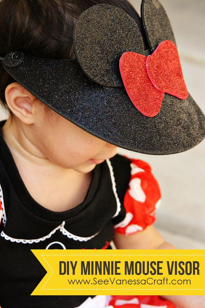 07628218f craft tutorial) disney minnie mouse visor hat | face paint Mickey ...