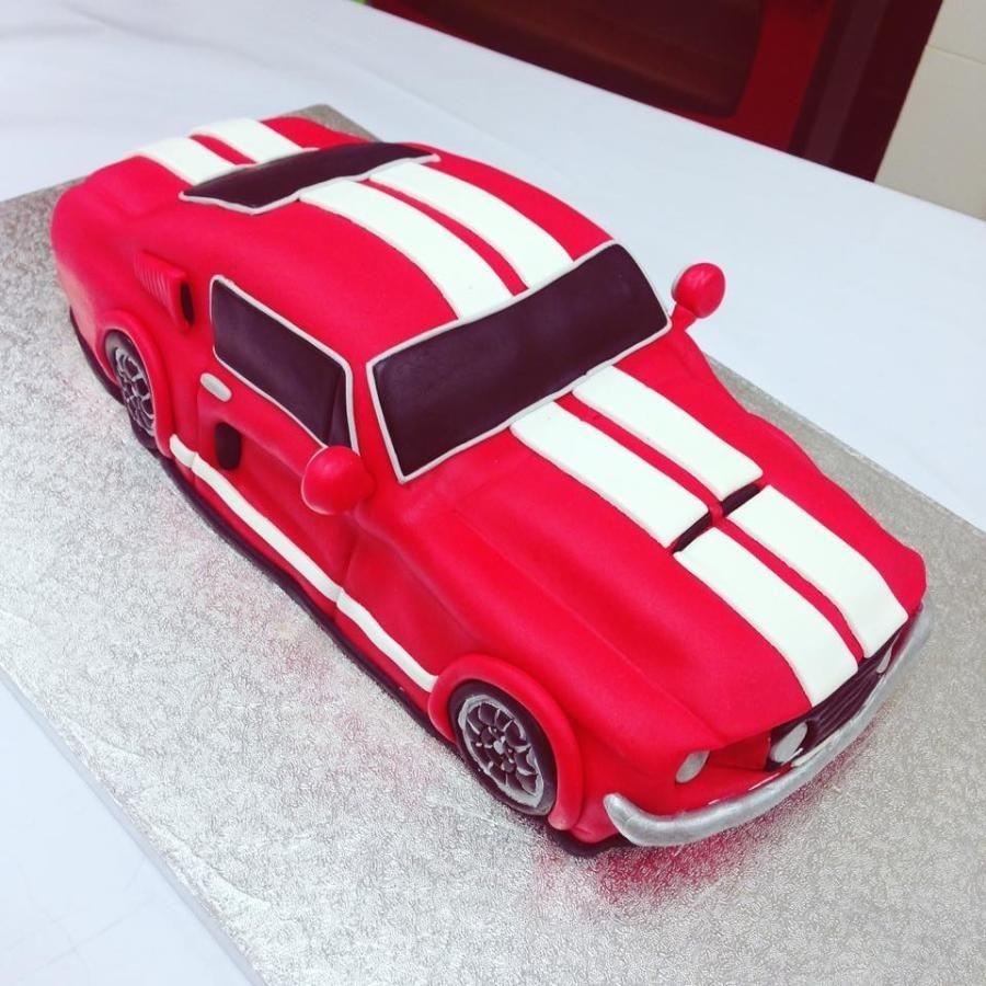 Mustang GT500 1967 classic car cake  Car cake Mustang cake Vintage car  party