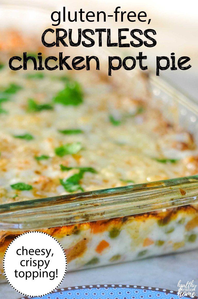 Cheesy Crustless Chicken Pot Pie Casserole (gluten-free!)